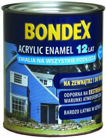 Emalia akrylowa, kolory standardowe 0,75 l Acrylic Enamel 12 lat BONDEX