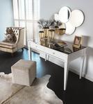 Lustrzane białe biurko Egiza NOVELLE