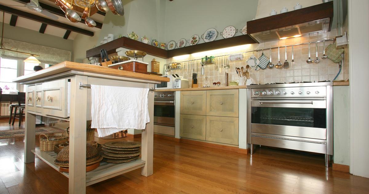 Kuchnia w stylu rustykalnym Kuchnia z wyspą  -> Kuchnia W Stylu Rustykalnym Inspiracje