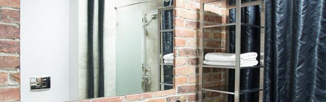 Styl industrialny. Męska łazienka